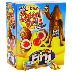 FINI CAMEL BALLS BUBBLE GUM EXTRA SOUR 200 x 5p GLUTEN FREE