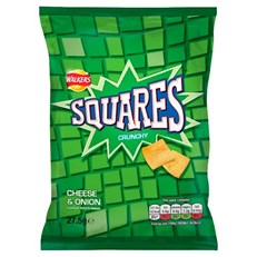 SQUARES CHEESE & ONION 27.5g (32 PACK)