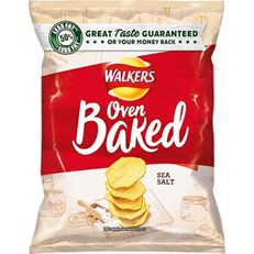 WALKERS BAKED READY SALTED 37.5g Bags (32 PACK)