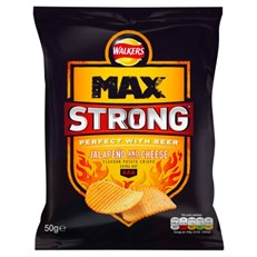 WALKERS MAX STRONG JALAPENO & CHEESE