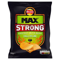 WALKERS MAX STRONG CHILLI & LIME