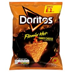 DORITOS £1 FLAMIN HOT CHEESE