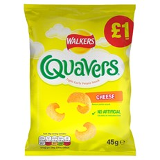 WALKERS £1 QUAVERS 45g (15 Pack) 20 FEB DATED