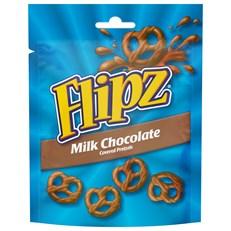 FLIPZ MILK CHOCOLATE PRETZELS 90g (6 PACK0