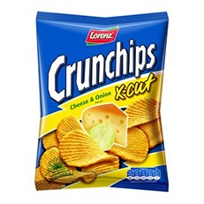 LORENZ CRUNCHIPS XCUT CHEESE & ONION