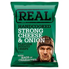 REAL CRISPS STRONG CHEESE & ONION 35g (24 PACK)