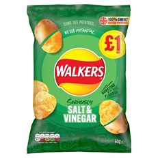WALKERS £1 SALT & VINEGAR