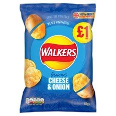 WALKERS CRISPS CHEESE & ONION 65g £1 (15 PACK)