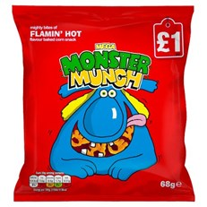 MONSTER MUNCH £1 FLAMIN HOT