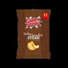 GOLDEN WONDER SMOKY CHARGRILLED STEAK CRISPS 65g (15 PACK)