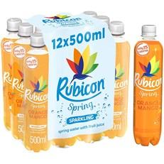RUBICON SPRING ORANGE & MANGO FLAVOURED SPARKLING SPRING WATER 500ml (12 PACK)