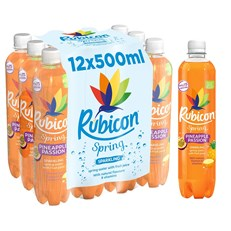 RUBICON SPRING LEMON & LIME FLAVOURED SPARKLING SPRING WATER 500ml (12 PACK)