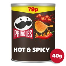 PRINGLES HOT & SPICY 40g 69p (12 PACK)