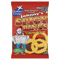 JOHNNYS SPICY RINGS 22g 25p (36 PACK)