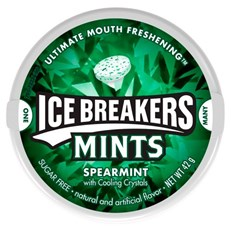 HERSHEY ICE BREAKERS MINTS SPEARMINT 42g (8 Pack)