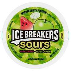 HERSHEY ICE BREAKERS SOURS WATERMELON GREEN APPLE 42g (8 Pack)