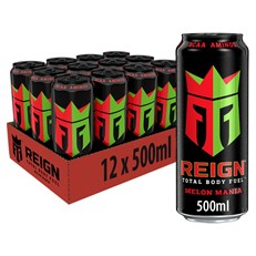 REIGN ENERGY DRINK MELON MANIA 500ml £1.49 (12 PACK)