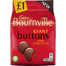 BOURNVILLE GIANT DARK BUTTONS £1