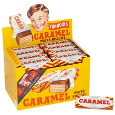 TUNNOCKS CARAMEL WAFERS 30g (48 PACK)