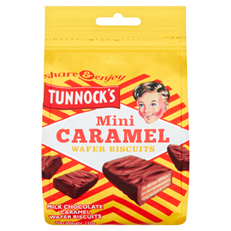 TUNNOCKS MINI CARAMEL WAFER POUCH 150g (12 PACK)