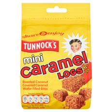 TUNNOCKS MINI CARAMEL LOG POUCH 150g (12 PACK)