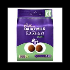 CADBURYS DAIRY MILK MINT BUTTONS 95g £1 (10 PACK)