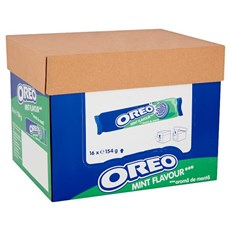 OREO MINT BISCUITS 154g (16 PACK)