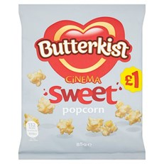 BUTTERKIST £1 POPCORN CINEMA SWEET