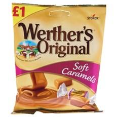WERTHERS ORIGINAL SOFT CARAMELS £1 110g (12 PACK)