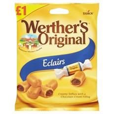 WERTHERS ORIGINAL ECLAIRS £1 100g (12 PACK)