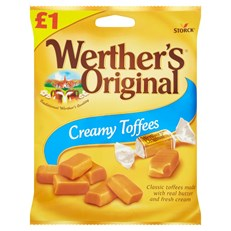 WERTHERS ORIGINAL CREAMY TOFFEES £1 110g (12 PACK)