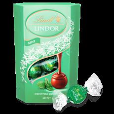 LINDT LINDOR MINT CHOCOLATE BOX 200G (8 BOXES)
