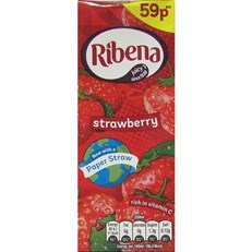 RIBENA 50P CARTON STRAWBERRY