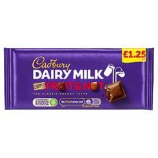 CADBURYS DAIRY MILK FRUIT & NUT CHOPPED £1 95g (22 PACK)
