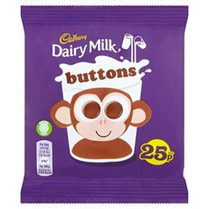 CADBURYS DAIRY MILK CHOCOLATE BUTTONS 25P 14g (60 PACK)