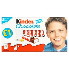 KINDER CHOCOLATE 10 x 8PACK SMALL BARS £1