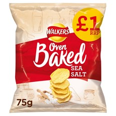 WALKERS BAKED READY SALTED 75g £1 (15 PACK) 25 OCTOBER DATED