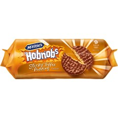 MCVITIES STICKY TOFFEE PUDDING CHOCOLATE HOBNOBS 262g (12 PACK)