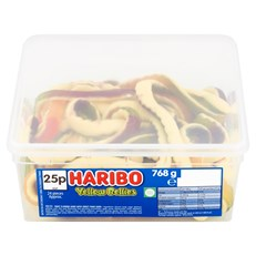 HARIBO TUBS 25P YELLOW BELLIES