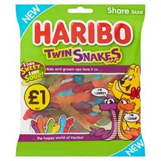 HARIBO £1 TWIN SNAKES 160g (12 PACK)