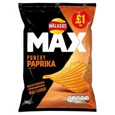 WALKERS £1 MAX PAPRIKA PUNCHY
