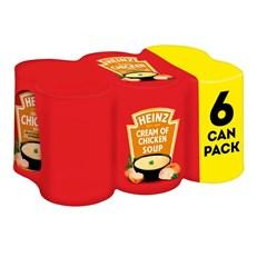 HEINZ CREAM OF CHICKEN SOUP 400g (6 PACK)