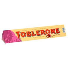 TOBLERONE FRUIT & NUT MILK CHOCOLATE BAR 360g 27 MAY DATED
