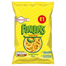 WALKERS SMITHS £1 FUNYUNS 60g (15 PACK) 16 OCTOBER DATED