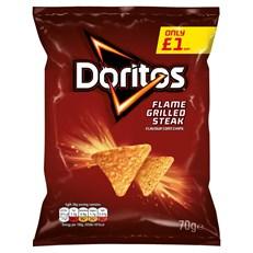 DORITOS £1 FLAME GRILLED STEAK