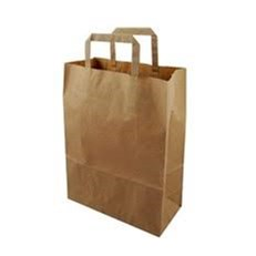 BROWN HANDLED BAG 12INCH