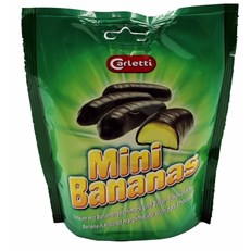 CARLETTI CHOCOLATE BANANAS BAGS 135g (24 PACK)