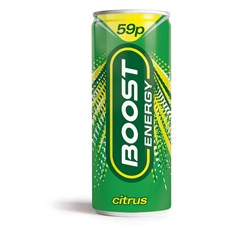 BOOST ENERGY DRINK CITRUS ZING 59P