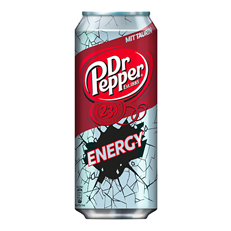 DR PEPPER ENERGY DRINK 250ml CANS (24 PACK)