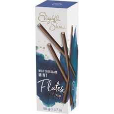 ELIZABETH SHAW FLUTES MILK CHOCOLATE MINT 105g
